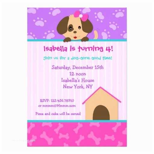 Dog Party Invitations Puppy Dog Birthday Party Invitations
