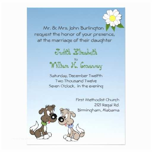 Dog Wedding Invitations 50 000 Cartoon Invitations Cartoon Announcements
