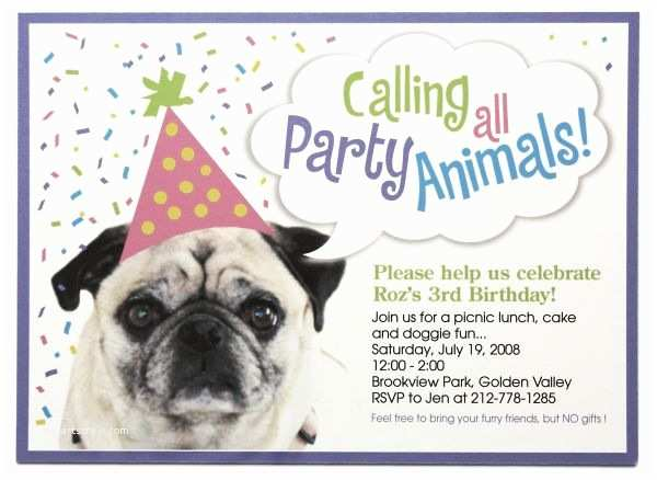 Dog Wedding Invitations Dog Birthday Party Invitations