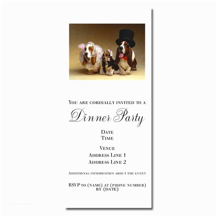 Dog Wedding Invitations Invitations for Dog Wedding