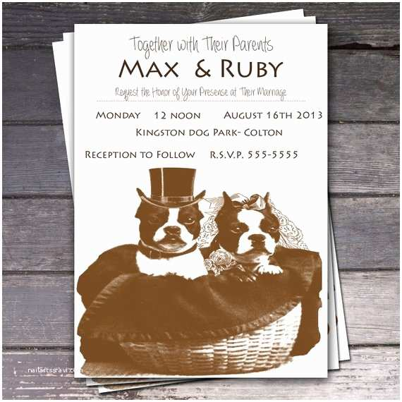 Dog Wedding Invitations Items Similar to Printable Dog Wedding Invitations On Etsy