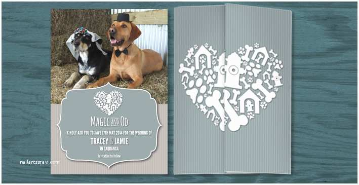 Dog Wedding Invitations Jamie & Tracey's Doggie Doo
