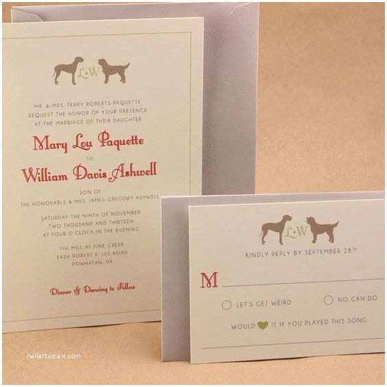 Dog Wedding Invitations Pinterest • the World's Catalog Of Ideas