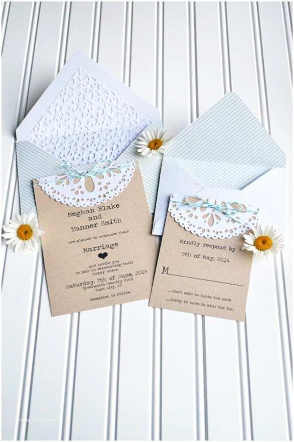 Doily Wedding Invitations Diy Doily Wedding Invitation