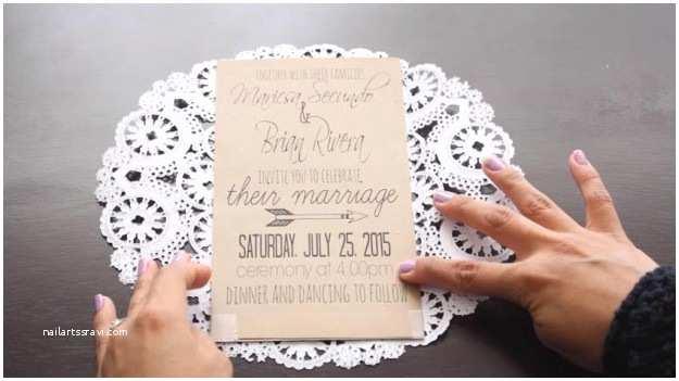Doily Wedding Invitations How to Make A Diy Rustic Doily Wedding Invitation