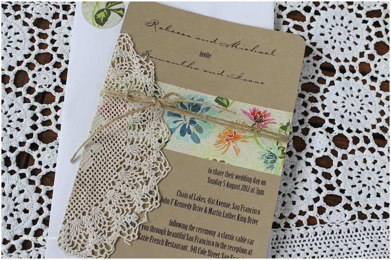 Doily Wedding Invitations Paperdollsweddings Doily Wedding Invitation Each One Unique