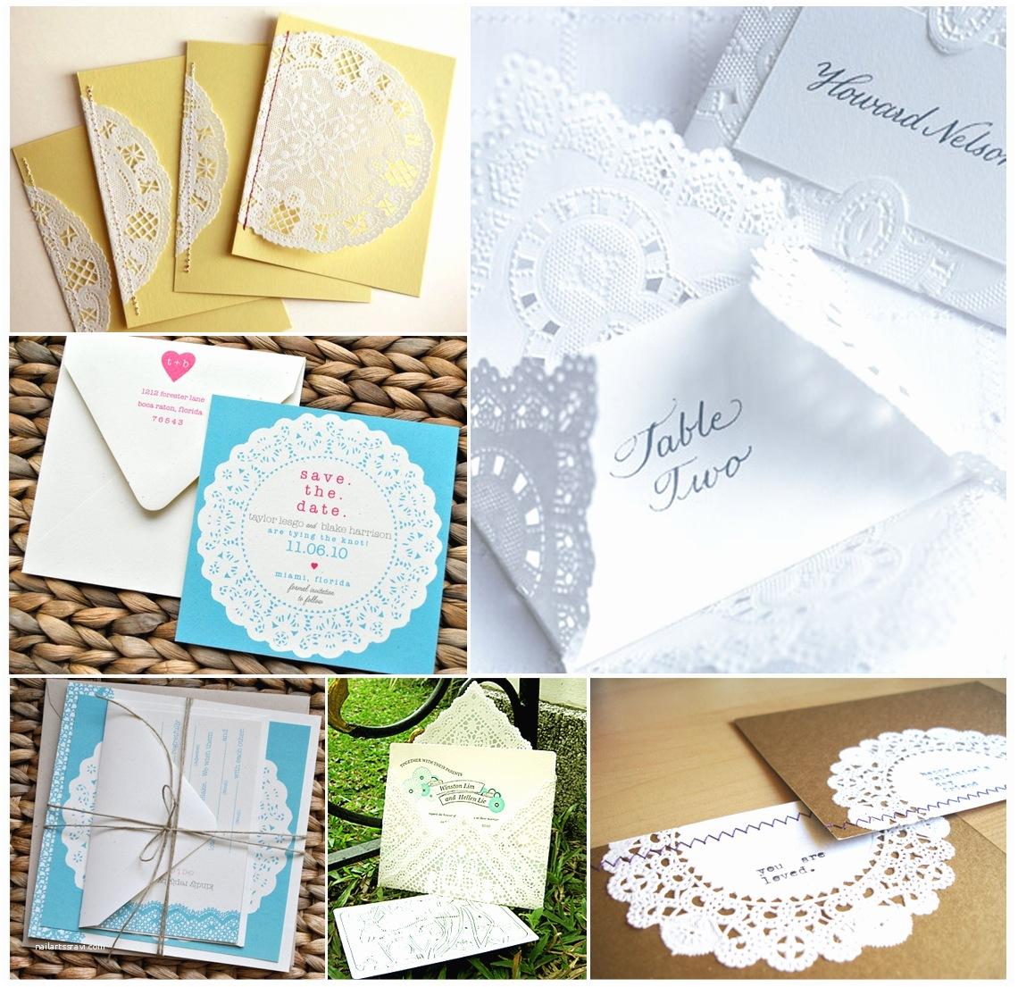Doily Wedding Invitations Vintage Wedding Stationery Doilies Wedding Invitations