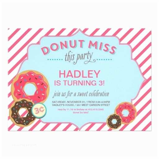 Donut Party Invitations 41 Best Images About Doughnut Donut Birthday theme On