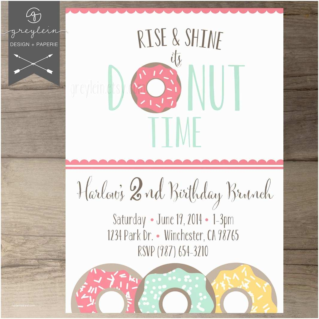 Donut Party Invitations Chandeliers & Pendant Lights