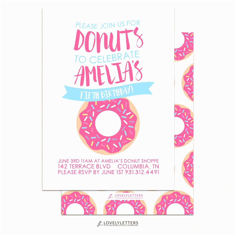 Donut Party Invitations Donut Invitation Donut Birthday Invitation Sprinkle