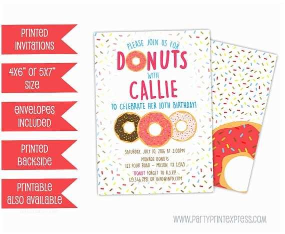 Donut Party Invitations Donut Invitations Donut Birthday Invitation Donut