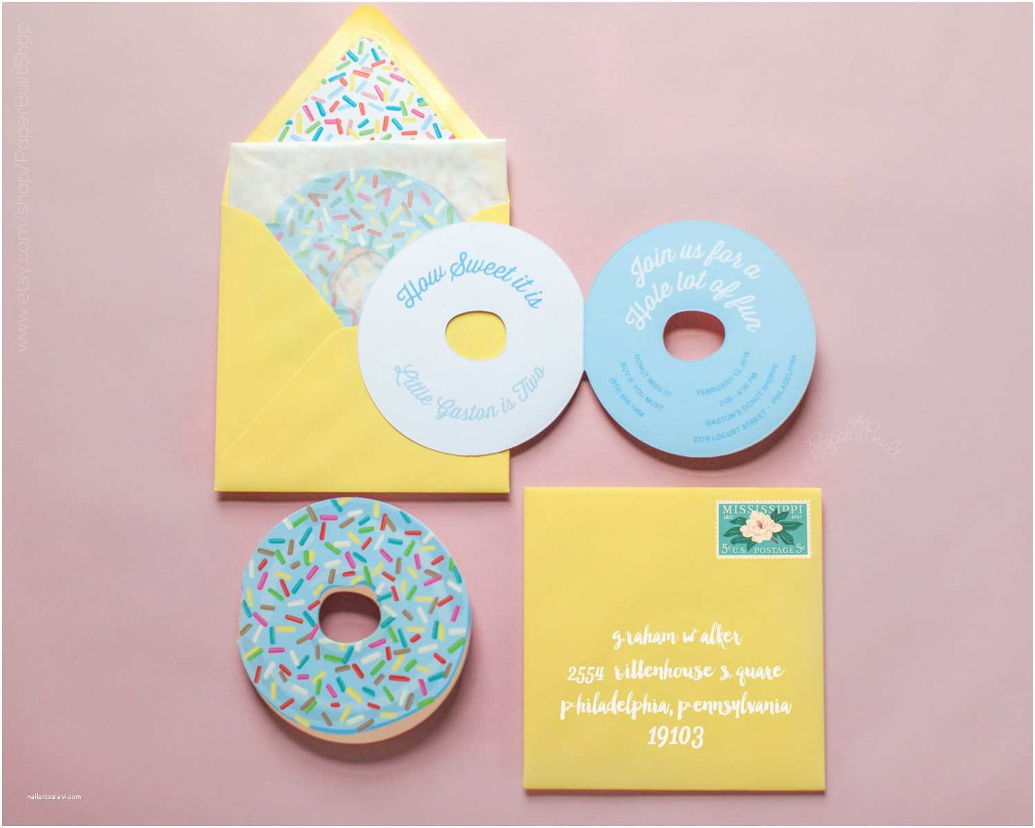Donut Party Invitations Donut Party Donut Invitation Donut Birthday Party Invite