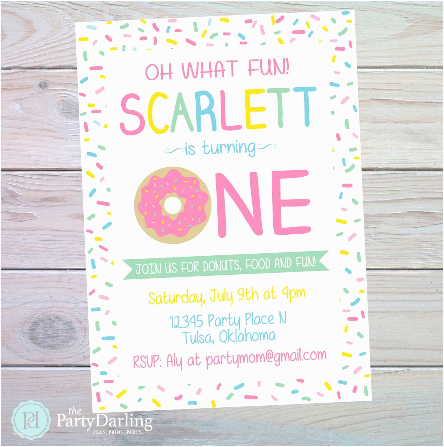 Donut Party Invitations Donut Party Invitation Donut Birthday Party Donut Birthday