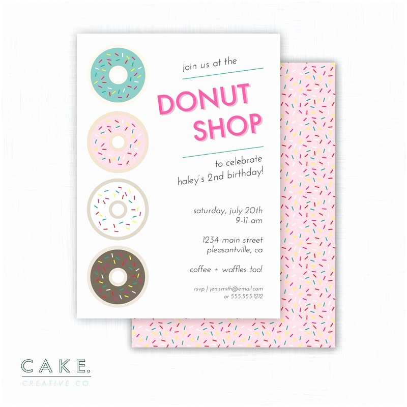 Donut Party Invitations Donut Party Invitation Printable