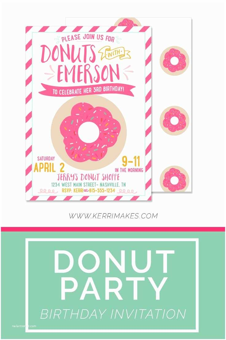 Donut Party Invitations How to Create Donut Party Invitations Modern Templates