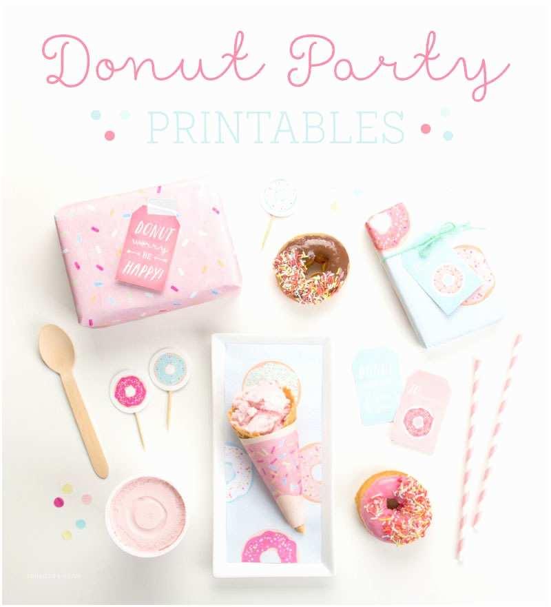 Donut Party Invitations Kara S Party Ideas Free Donut Party Printables