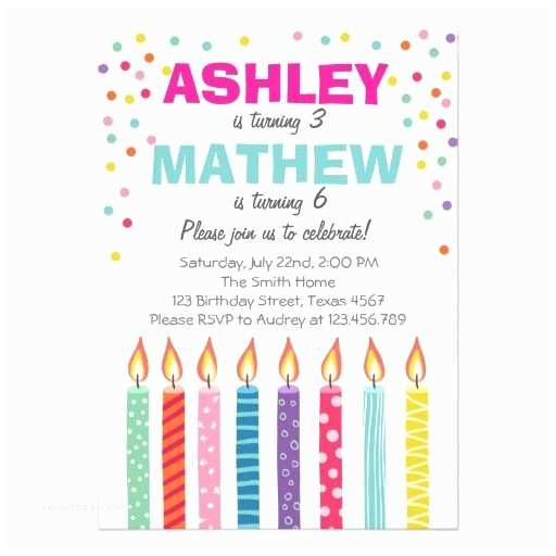 twins birthday party invitations