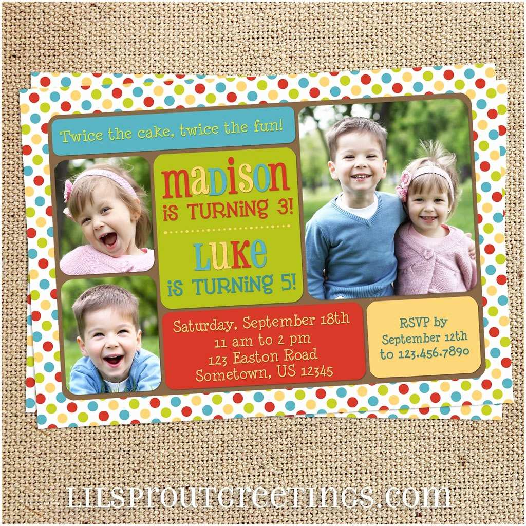 Double Birthday Party Invitations Double Birthday Party Invitations
