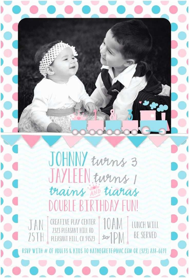 Double Birthday Party Invitations Pin by Erica Cortez On Double Birthday Party Ideas