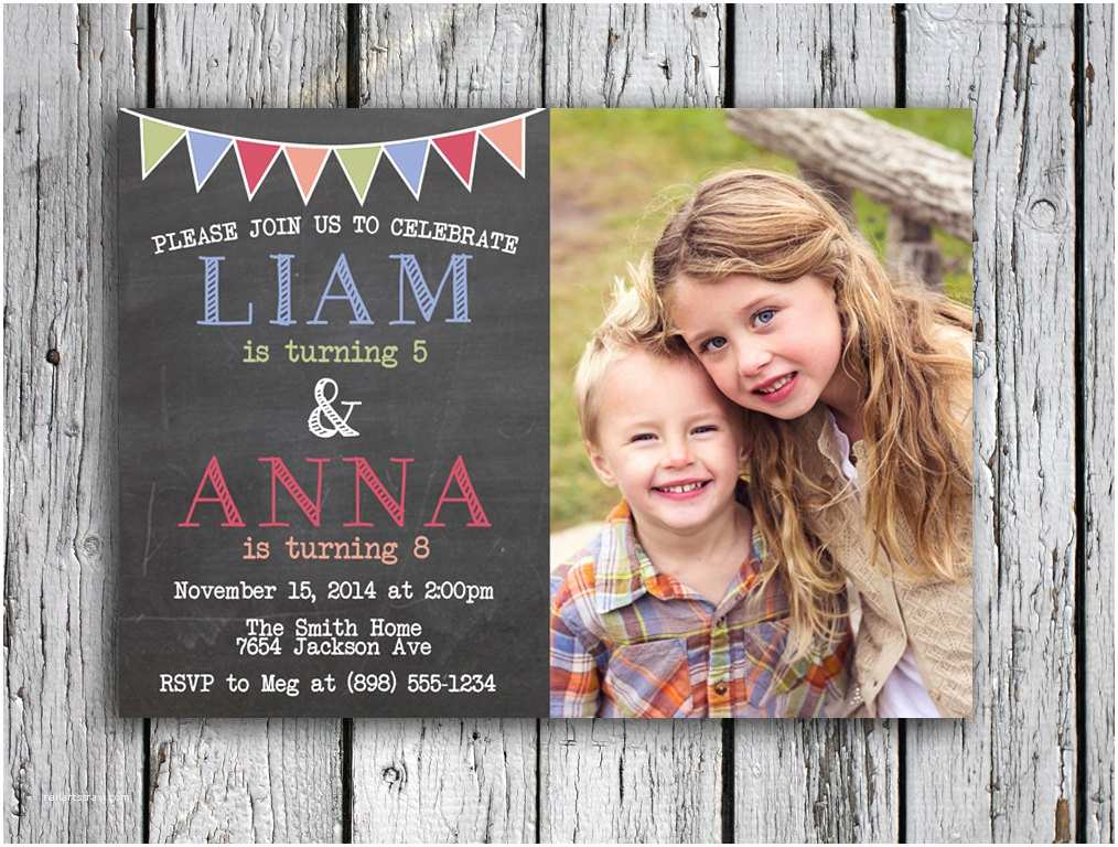 Double Birthday Party Invitations top 17 Double Birthday Party Invitations