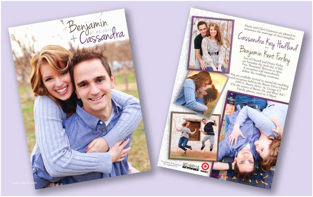 Double Sided Wedding Invitations Double Sided Wedding Invitations