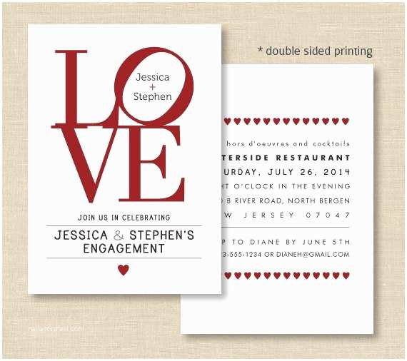 Double Sided Wedding Invitations Love Invitations Love Philly Double Sided Invite for