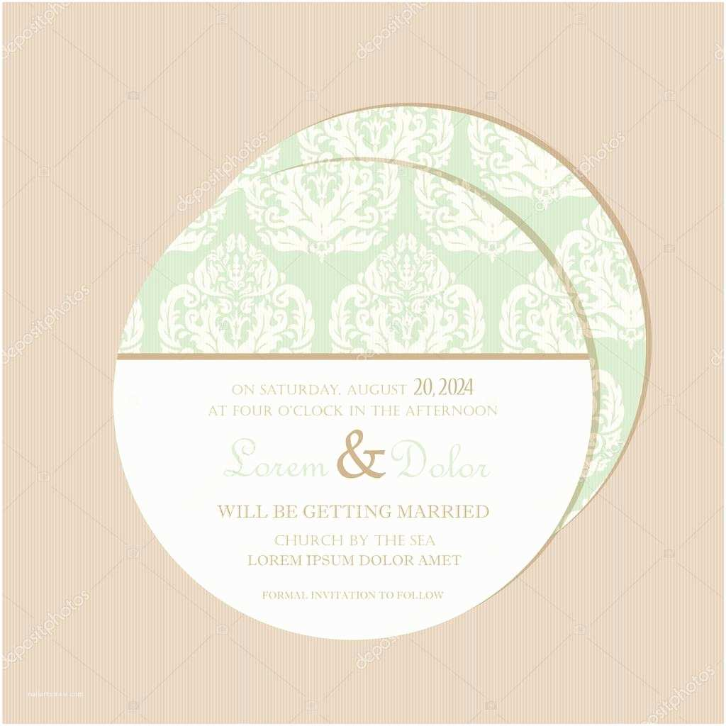 Double Sided Wedding Invitations Round Double Sided Wedding Invitation Card — Stock