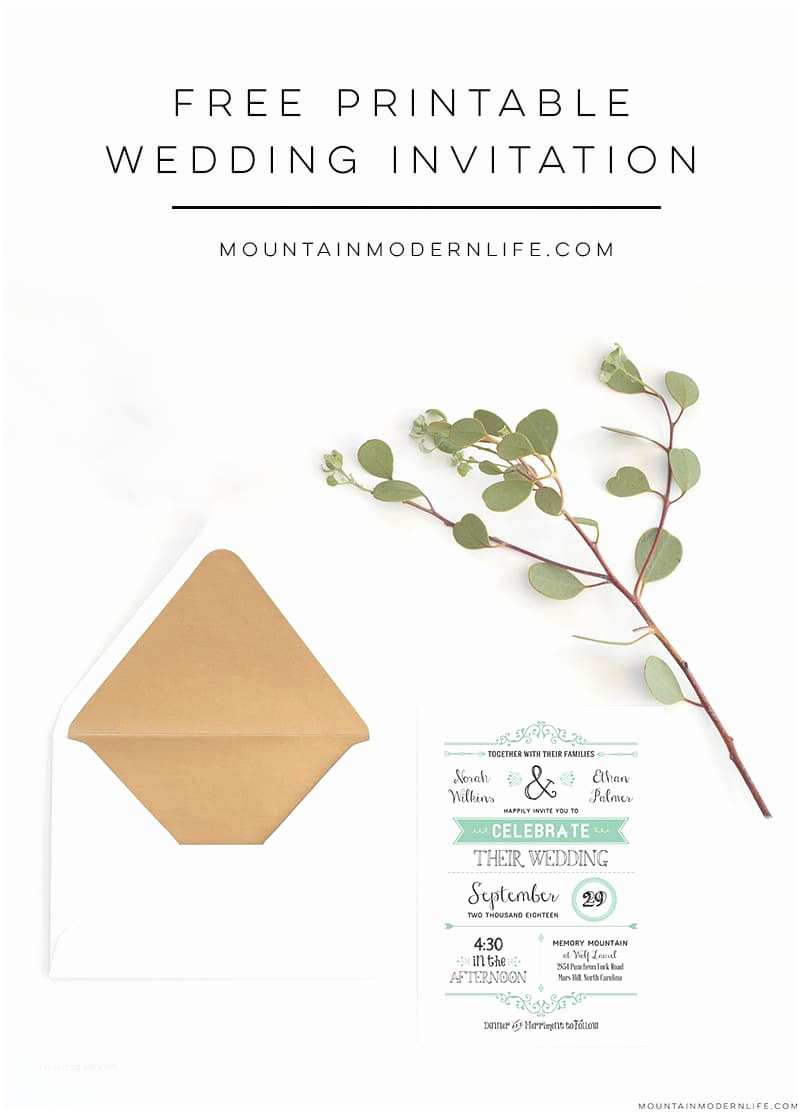 Downloadable Wedding Invitations Free Wedding Invitation Template