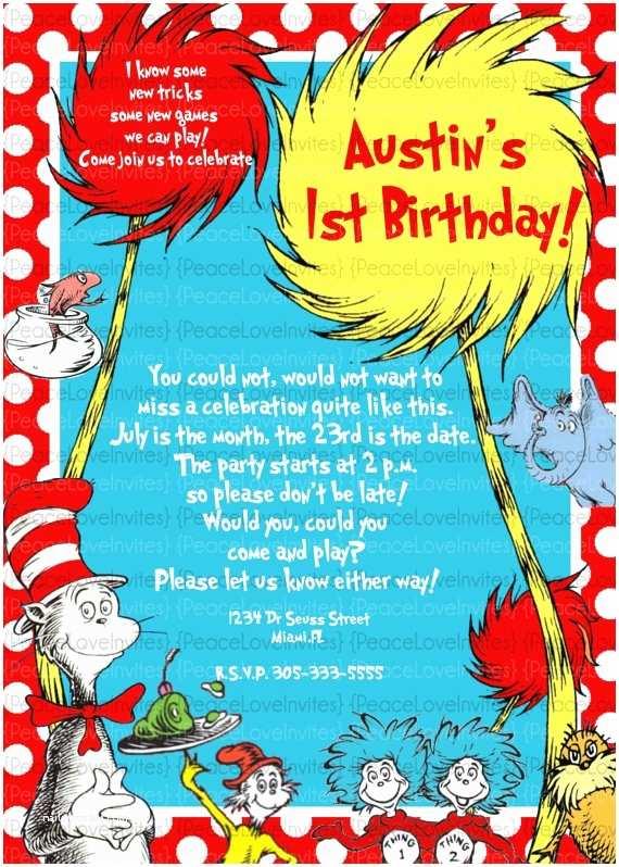 Dr Seuss 1st Birthday Invitations 50 Best Ideas About Dr Seuss Party Ideas On Pinterest