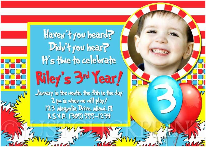 Dr Seuss 1st Birthday Invitations Dr Seuss 1st Birthday Invitations