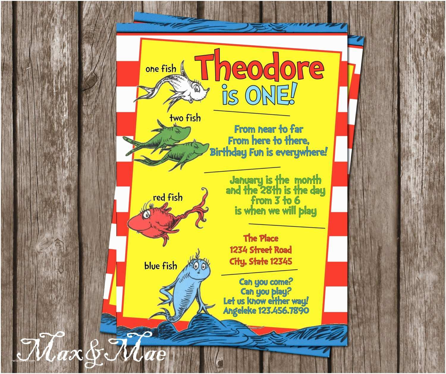 Dr Seuss 1st Birthday Invitations Dr Seuss Birthday Invitation First Birthday Invite E