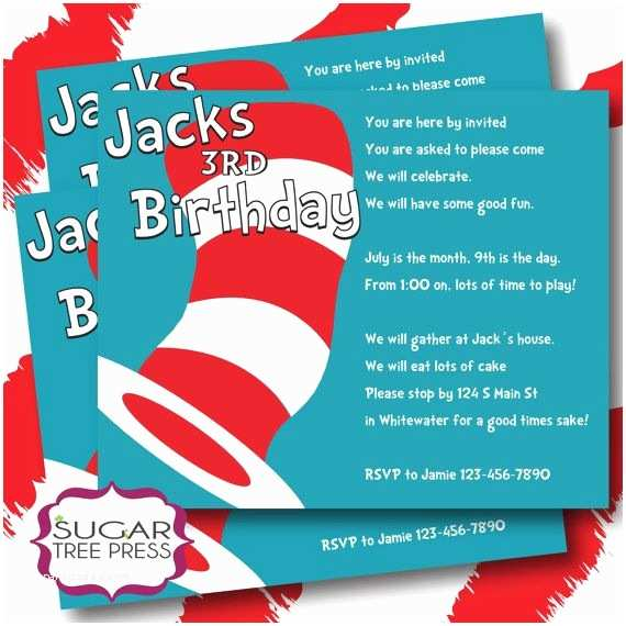 Dr Seuss 1st Birthday Invitations Dr Seuss Birthday Invitation Wording