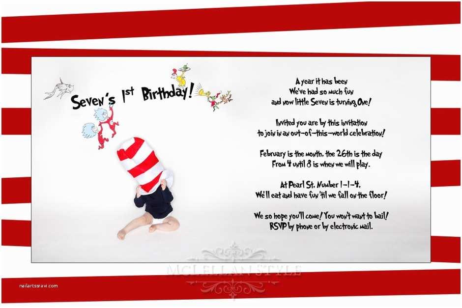 Dr Seuss 1st Birthday Invitations Dr Seuss Quotes Birthday Invitations Image Quotes at