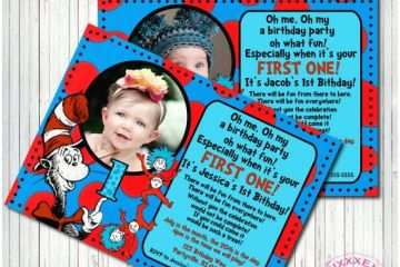 Dr Seuss 1st Birthday Invitations Unavailable Listing On Etsy