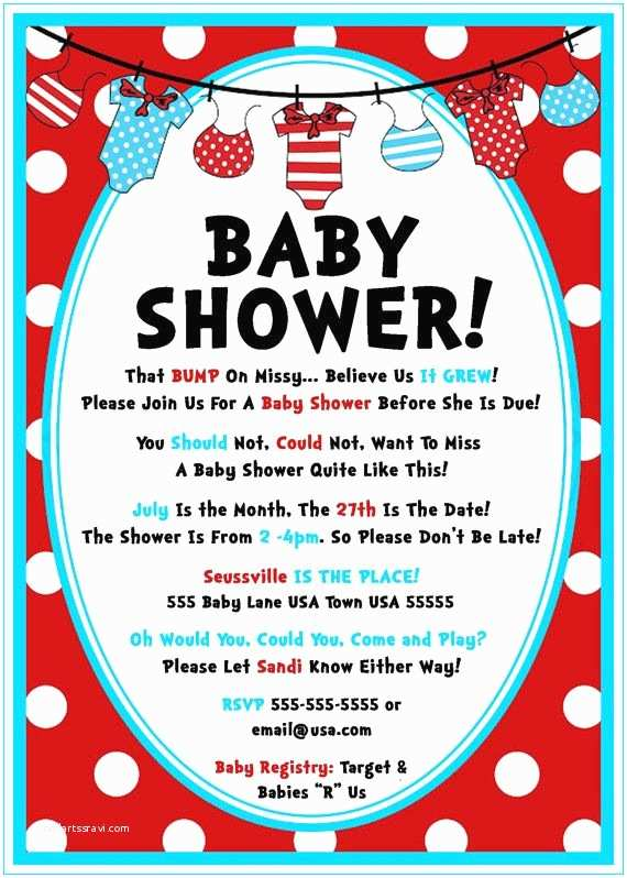 Dr Seuss Baby Shower Invitations 17 Best Ideas About Baby Shower Templates On Pinterest