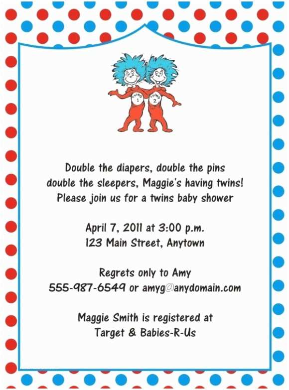 Dr Seuss Baby Shower Invitations Dr Seuss Baby Shower Invites – Gangcraft