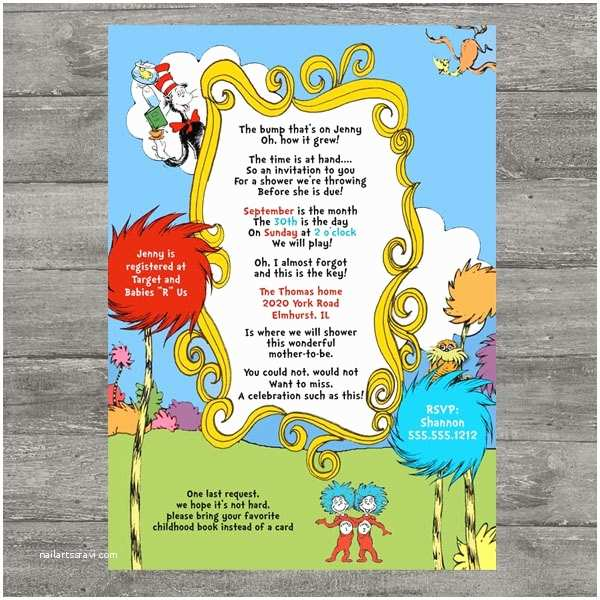 Dr Seuss Baby Shower Invitations I Think This Was It Dr Seuss Baby Shower Invitations