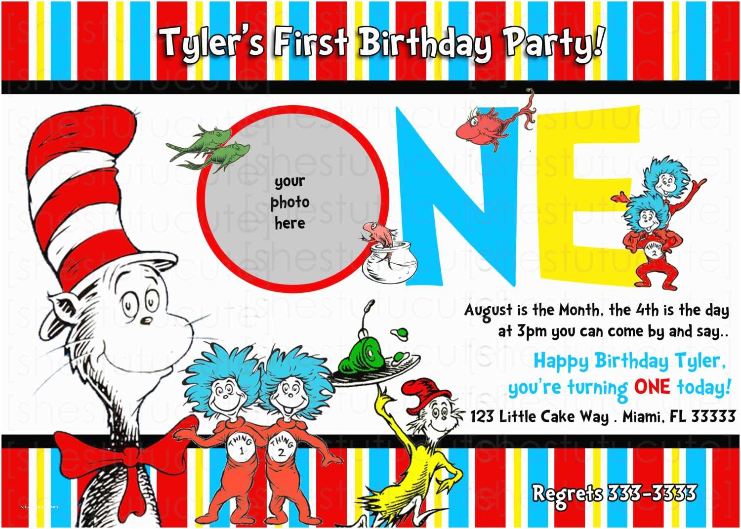 Dr Seuss Birthday Invitations How to Make Dr Seuss Birthday Party Invitations Ideas