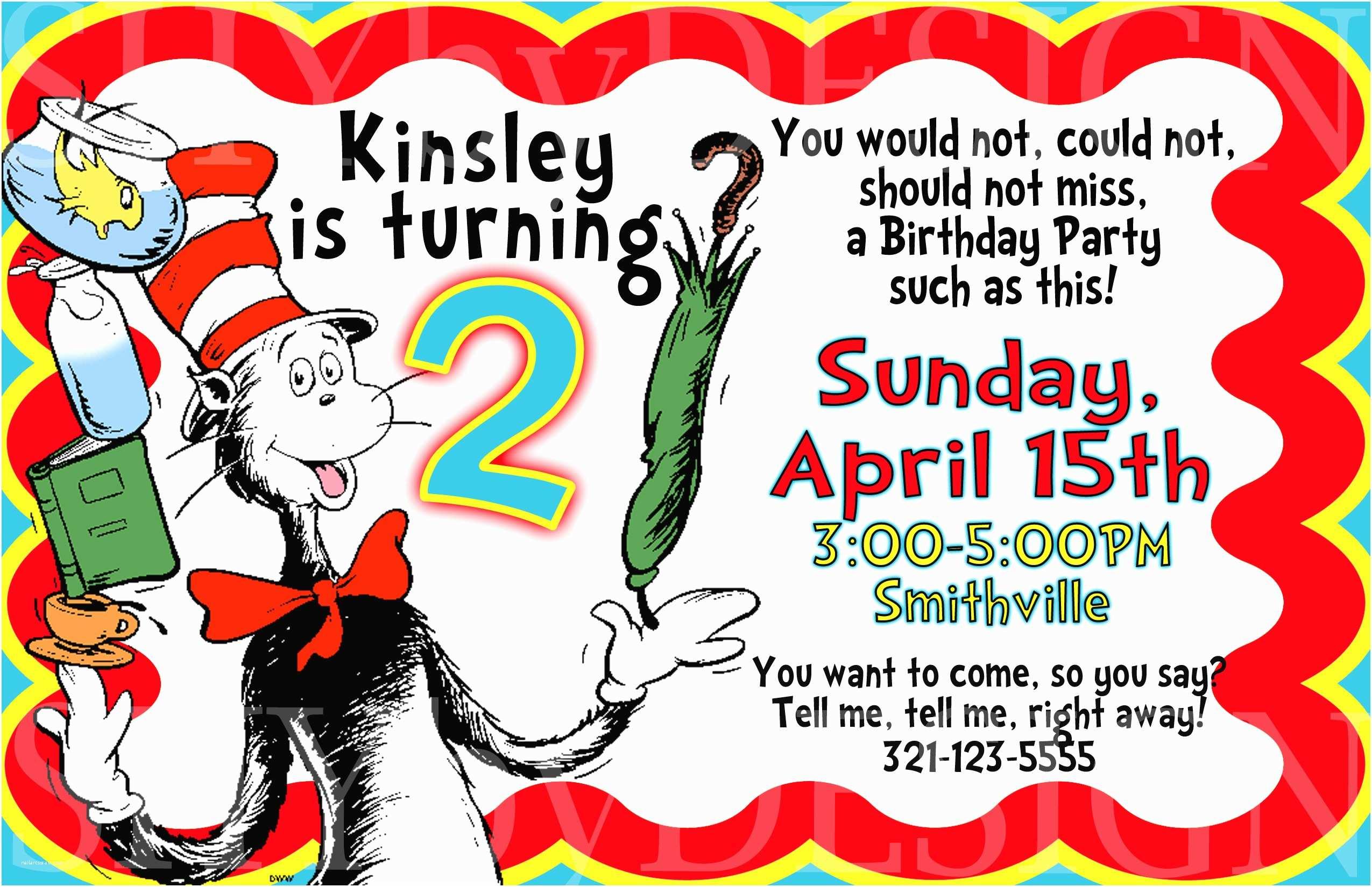 Dr Seuss Party Invitations Dr Seuss Birthday Invitations Ideas Templates