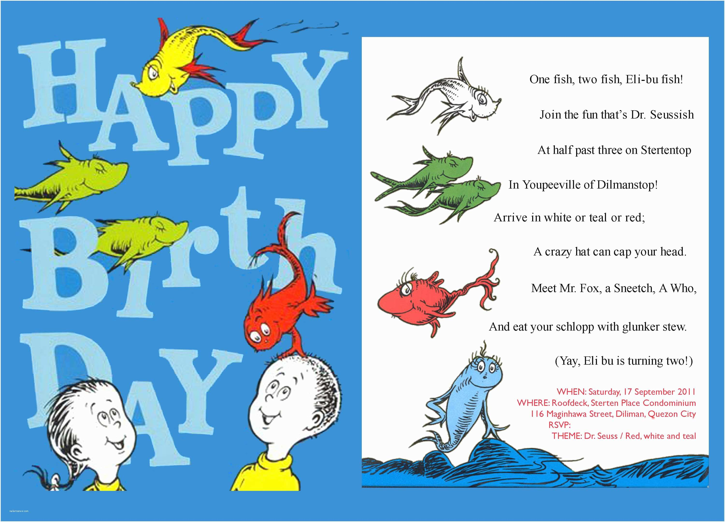 top 12 dr seuss birthday party invitations