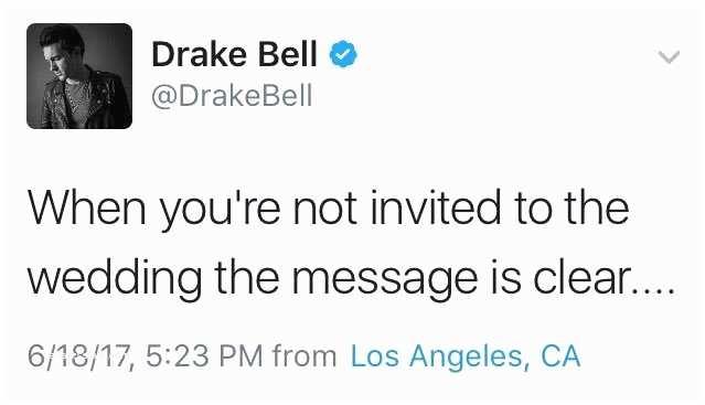 Drake Not Invited to Josh Wedding Osha Omg Josh Not Inviting Drake to His Wedding Mi and
