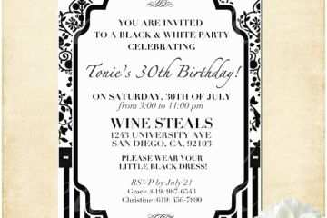 Dress Code Wording For Party Invitations Customizable Black And