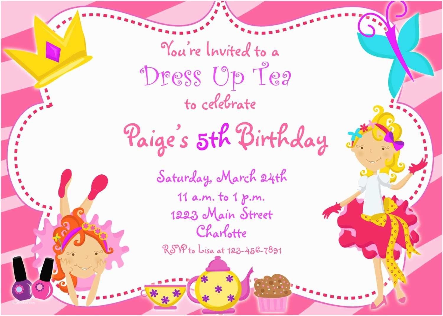 Dress Code Wording for Party Invitations Dress Up Party Birthday Invitation Funky by thebutterflypress