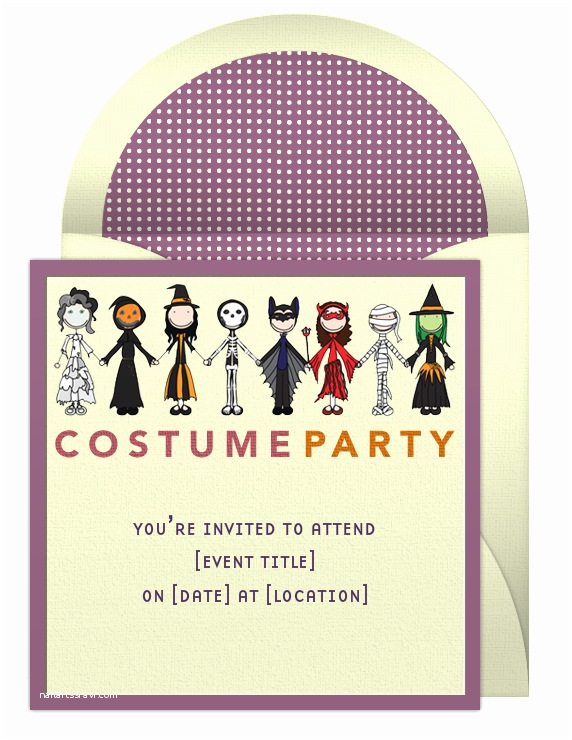 Dress Code Wording for Party Invitations Halloween Party Invitations