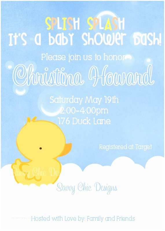 Duck Baby Shower Invitations 299 Best Images About Baby Shower Ideas On Pinterest
