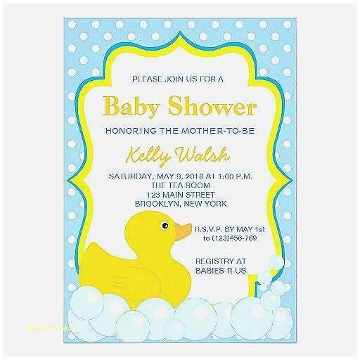 Duck Baby Shower Invitations Baby Shower Invitation Elegant Duck Invitations for Baby