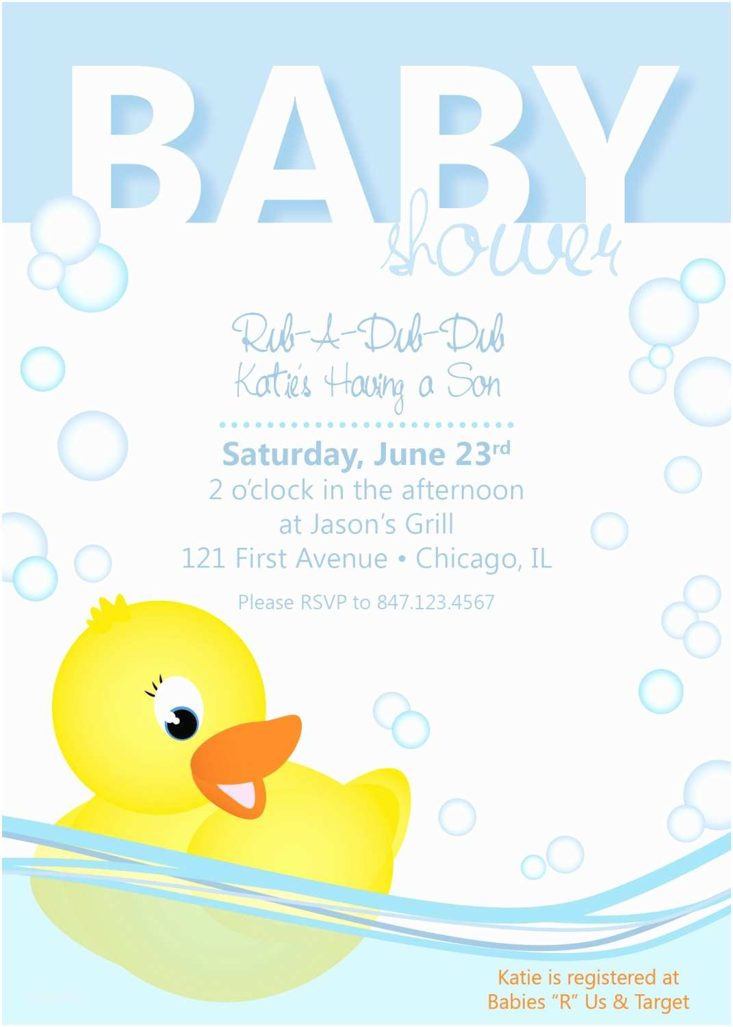 Duck Baby Shower Invitations Baby Shower Invitation Rubber Ducky by Collidestudio On Etsy