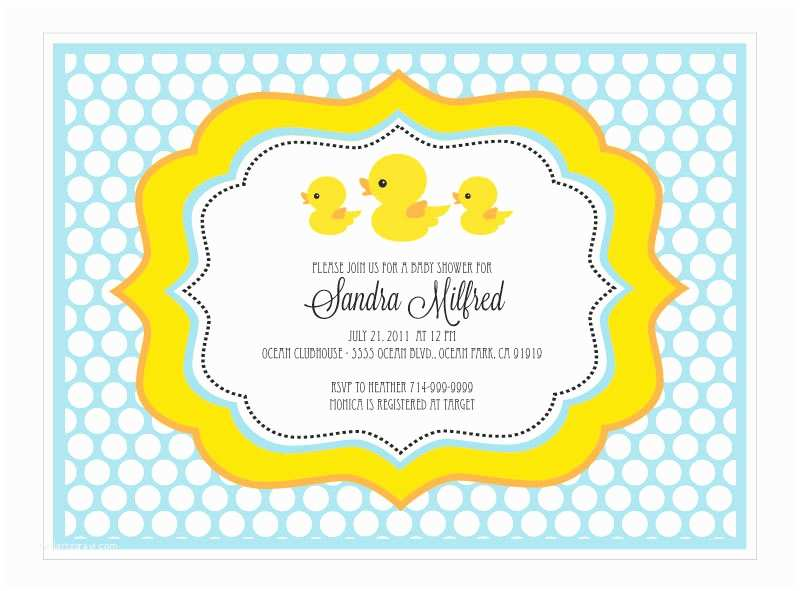 Duck Baby Shower Invitations Baby Shower Invitations Rubber Ducky