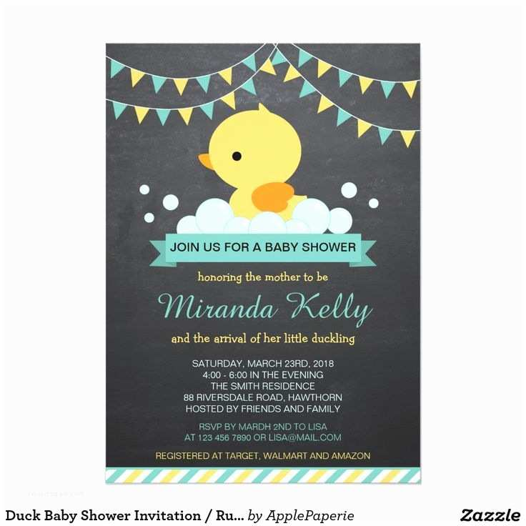 Duck Baby Shower Invitations Best 25 Baby Shower Duck Ideas Only On Pinterest