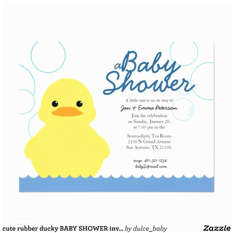 Duck Baby Shower Invitations Cute Rubber Ducky Baby Shower Invitation
